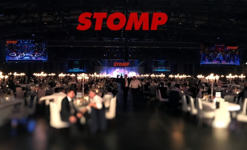 STOMP CORPORATE EVENT Contact flyer